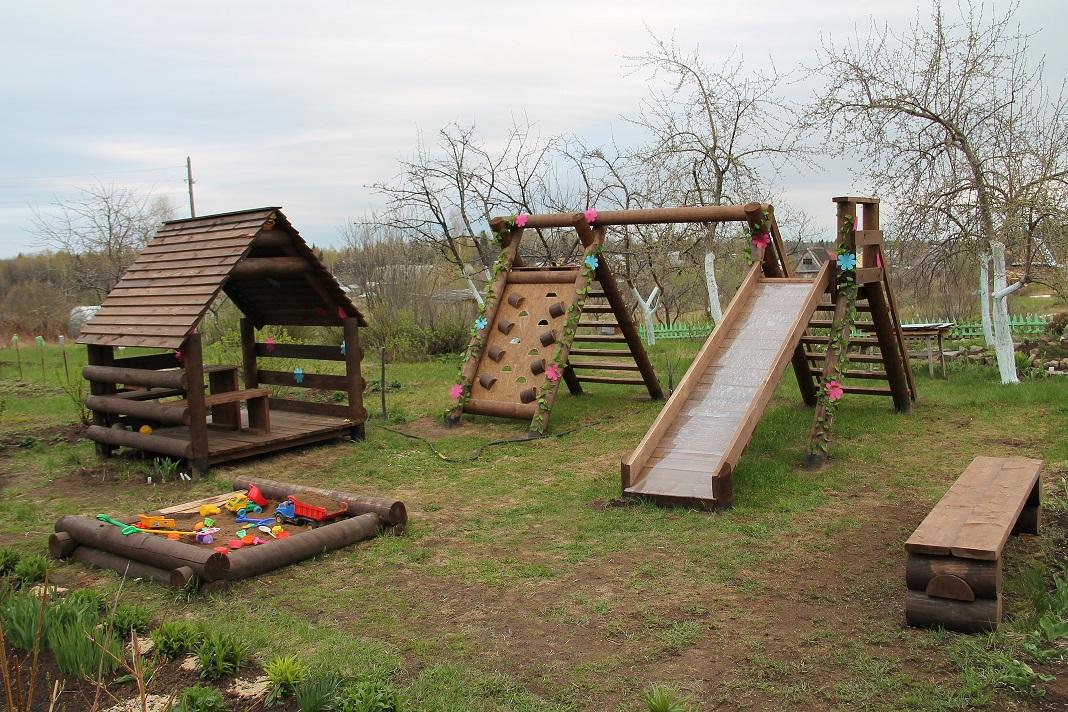Детские игровые комплексы для дачи своими руками фото 36